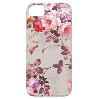 Vintage Elegant Pink Red Purple Roses Pattern iPhone 5 Cover