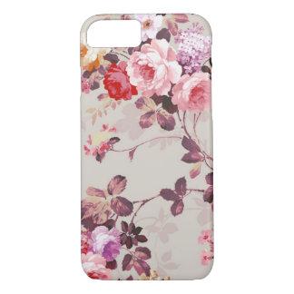 Vintage Elegant Pink Red Purple Roses Pattern iPhone 7 Case