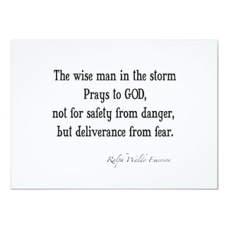 Vintage Emerson Inspirational Courage Quote 11 Cm X 16 Cm Invitation Card