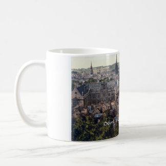 Vintage England mug, Oxford city panorama c1895 Basic White Mug