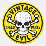 Vintage Evil 007A Round Sticker