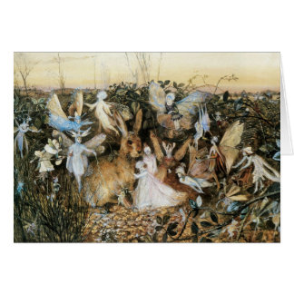Vintage Fairy Tale Fairy Twilight, John Fitzgerald Greeting Card