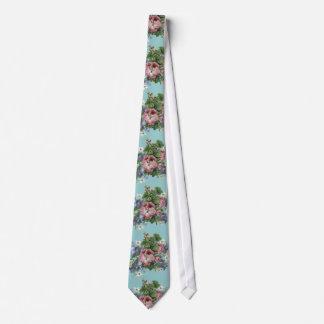 Vintage Flower Bouquet Tie