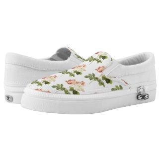 Vintage Flowers slip-on shoes 2