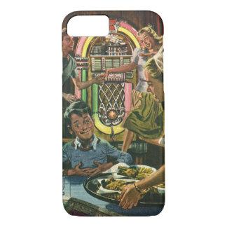 Vintage Food, Family Dinner Meal Diner Restaurant iPhone 7 Case