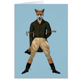 Vintage fox Hunting Greeting Card