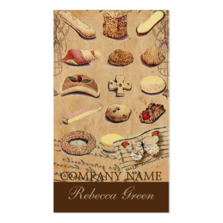 vintage french chocolate pastry cookies bakery pack of standard business cards