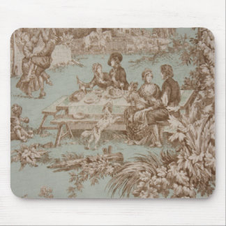 Vintage French Country Family Gathering Mousepad