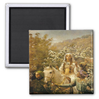 Vintage French Country in the Garden Fridge Magnet