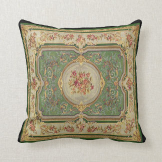 Vintage French Fabric Panel Pillow Cushion