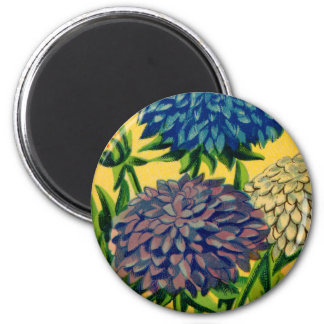 Vintage French Seed Package Queen Daisy 6 Cm Round Magnet