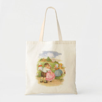Vintage Georgie Porgie Mother Goose Nursery Rhyme Budget Tote Bag
