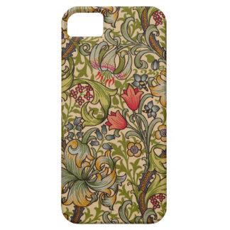 Vintage Golden Lilly Floral Design iPhone 5 Cover