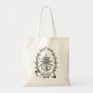Vintage Grain Sack Label Tote Bbag Budget Tote Bag