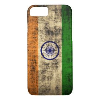 Vintage Grunge Flag of India iPhone 7 Case