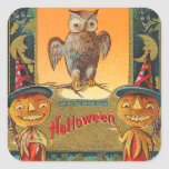 Vintage Halloween Owl Stickers - Trick or Treat