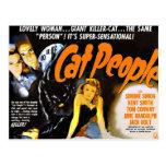 Vintage Horror Poster Cat People Postcard