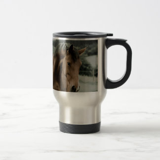 vintage horse animal painting art stainless steel travel mug