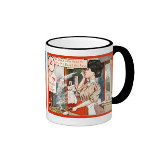 Vintage humour, Ten commandments for women Ringer Mug