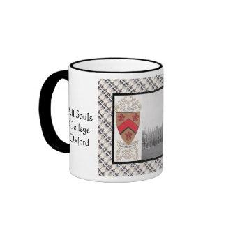 Vintage image, All Souls, Oxford Ringer Mug