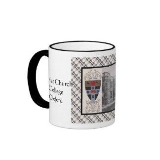 Vintage image, Christ Church College, Oxford Ringer Mug