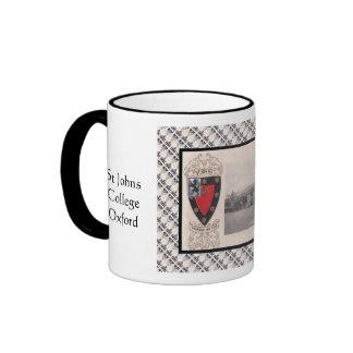 Vintage image, St Johns College, Oxford Ringer Mug