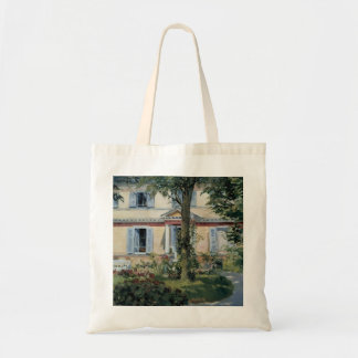 Vintage Impressionism, House at Rueil by Manet Budget Tote Bag