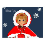 Vintage Inspired Cute Little Girl Thank You Cards Postcard
