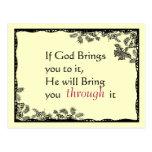 Vintage Inspired Faith Postcard