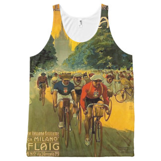 Vintage Italian Bicycle Ad All-Over Print Tank Top