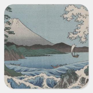 Vintage Japanese The Sea of Satta Square Sticker