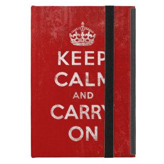 Vintage Keep Calm and Carry On iPad Mini Case