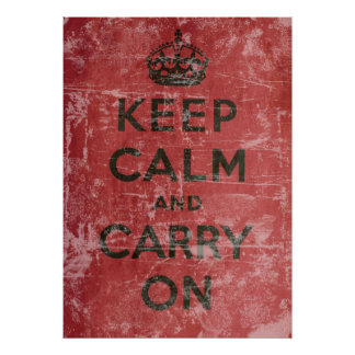 Vintage Keep Calm And Carry On Poster