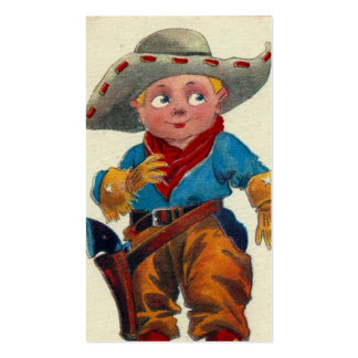 Vintage Kid Cowboy Pack Of Standard Business Cards