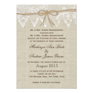 Vintage Lace Country Fair Wedding 13 Cm X 18 Cm Invitation Card