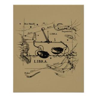 Vintage Libra Constellation Hevelius Style 11.5 Cm X 14 Cm Flyer