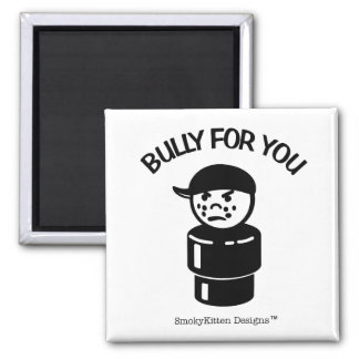 Vintage Little People Tough Kid - Bully For You Square Magnet
