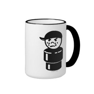 Vintage Little People Tough Kid Bully Ringer Mug