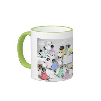 Vintage Louis Wain Cat Pillow Fight Gift Mug