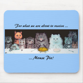 Vintage Louis Wain Cats Thanksgiving Mousepad