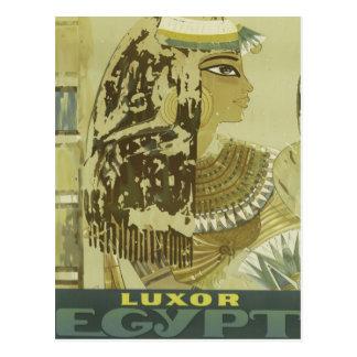 Vintage Luxor Egypt Travel Advertisement Postcard
