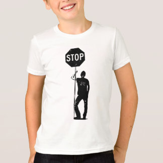 Vintage man with stop sign art tees