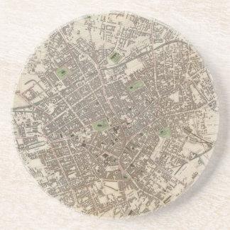 Vintage Map of Birmingham England (1839) Drink Coaster