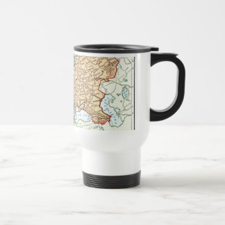 Vintage map of Europe colorful pastels Stainless Steel Travel Mug