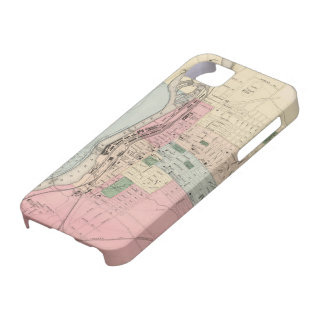 Vintage Map of Manchester New Hampshire (1877) iPhone 5 Cases