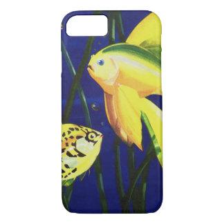 Vintage Marine Life Fish, Fancy Goldfish in Tank iPhone 7 Case