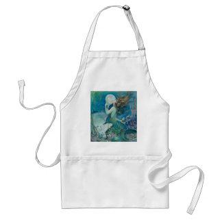 Vintage Mermaid Holding Pearl Standard Apron