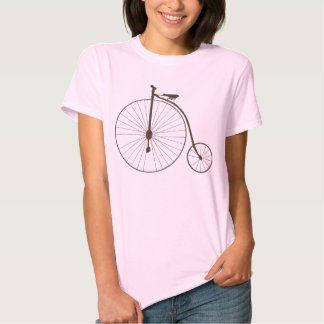 Vintage Metallic High Wheel Antique Bicycle Tee Shirts