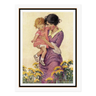 Vintage Mother and Child by Jessie Willcox Smith Postcard