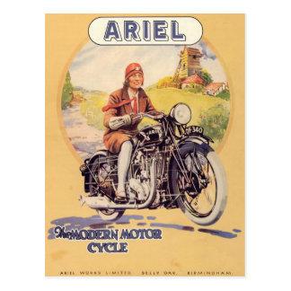 Vintage Motorcycle Poster Postcard